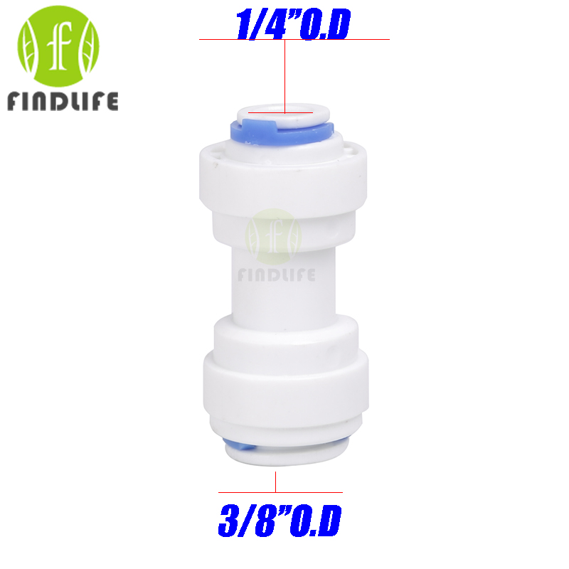 Water Filter Parts 5 pcs 1/4 *3/8OD Tube hose Quick Connection  For RO Water purifier  Reverse Osmosis machine 1564 water filter parts 5pcs 3 4 hose quick connection 1 8 bsp male thread pipe connection fit ro water purifier system
