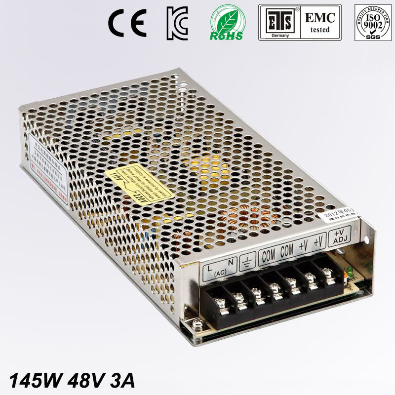Universal Switch power suply 48V DC 3A 145W Led Driver Unit Led Transformer 220v 110v AC To DC Fonte 48V For CNC CCTV lvsun universal dc