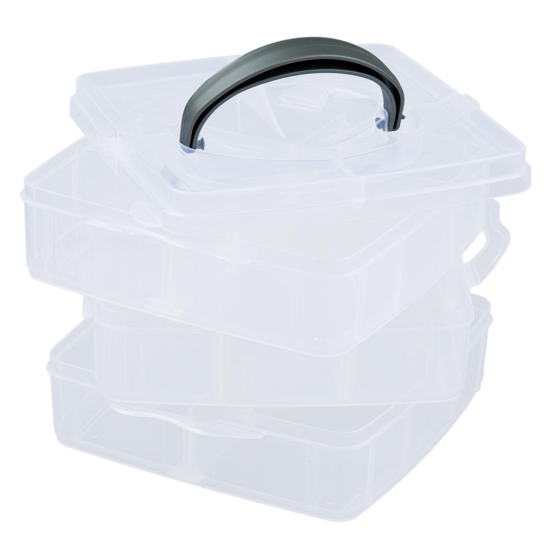 Практичный бутик таблетки ювелирные изделия ногтей чехол держатель для хранения Организатор Box 3 слоя 18 сетки