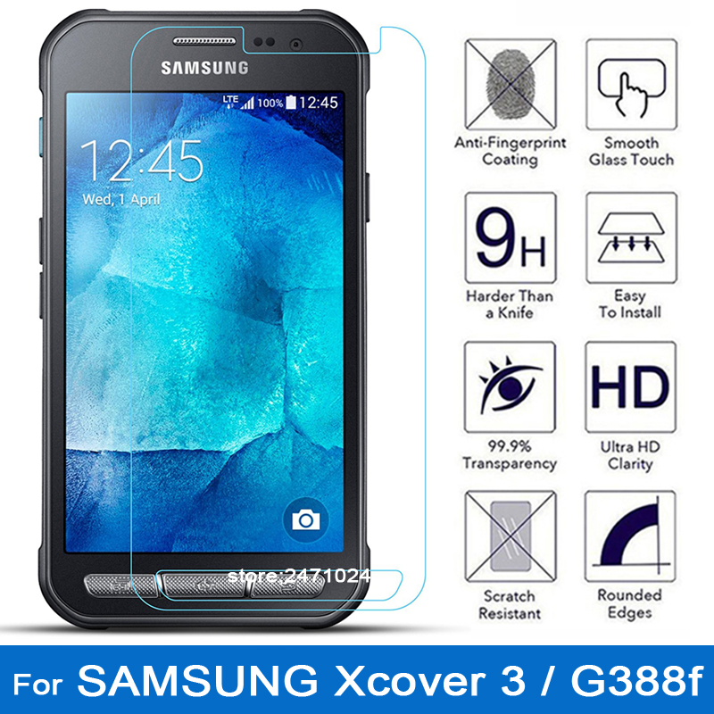 quality design 13ac4 352dd Tempered Glass For coque Samsung galaxy Xcover 3 / G388f Screen Protector  Film for samsung x cover 3 Xcover3 Xcover 3 glass sim