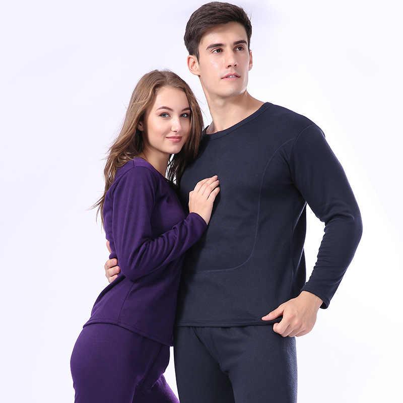 66e96cc52d Winter Warm Thermal Underwear Velvet Thick Women Men Long Johns Casual  Lovers Pajamas Cotton Long John
