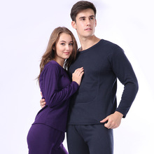 Winter Warm Thermal Underwear Velvet Thick Women Men Long Johns Casual Lovers Pajamas Cotton Long John Suit Large size XXXL