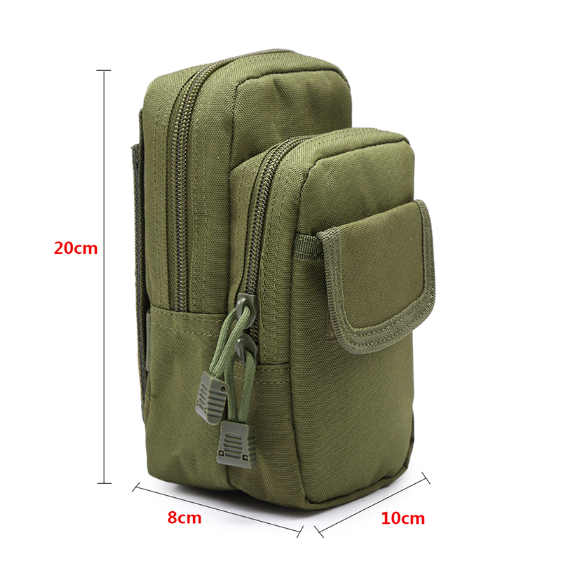 Tactical Military Nylon EDC Waist Bags Mobile Phone Utility Pouch Fanny Packs US Warehouse