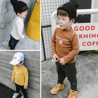 Bebek Kaplumbağa Boyun Tişörtü Çocuk Kış Boys Uzun Kollu Gömlek Pamuk Ceket Bebek Kalınlaşma Çizgisiz üst giysi T