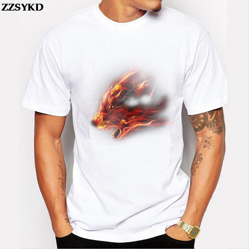 ZZSYKD New Men Brand Clothing Hip Hop 3D Wolf T Shirt Sled Dogs Tops Shirt Round Neck Short Sleeve Free Shipping