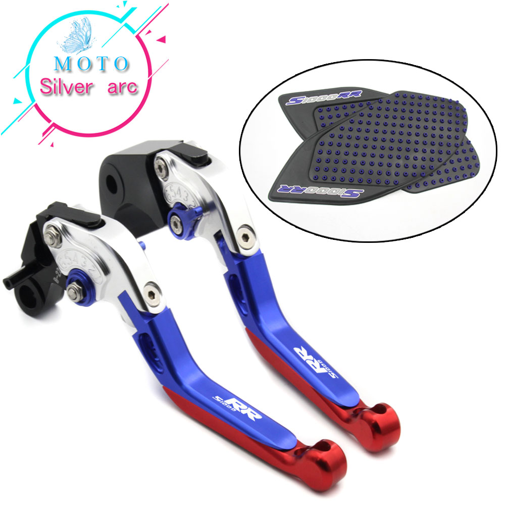 New anti-skid sticker+Foldable Adjustable Brake Clutch Lever For BMW S1000RR 2010-2015 2014 2013 2012 2011