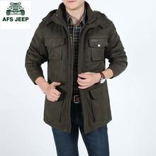 Afs Jeep New winter Men Jacket Brand warm Jacket Man's Coat Autumn Cotton Parka Outwear coat men winter jackets mens M-3XL 8115