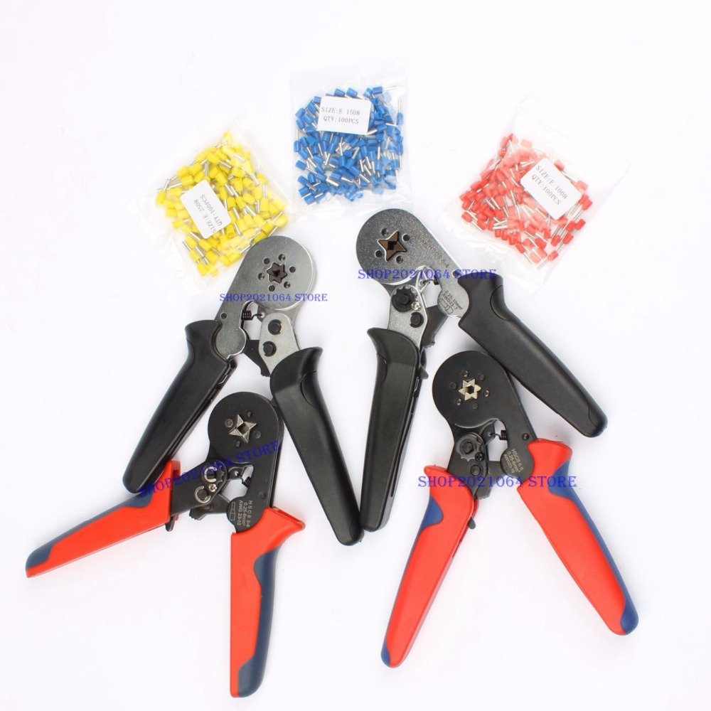 FASEN HSC8 6-4 HSC8 6-6 SELF-ADJUSTABLE MINI-TYPE CRIMPING PLIER 0.25-6mm2 Pliers hand tools terminals 1008 Red 1508 Blue 2508Y купить