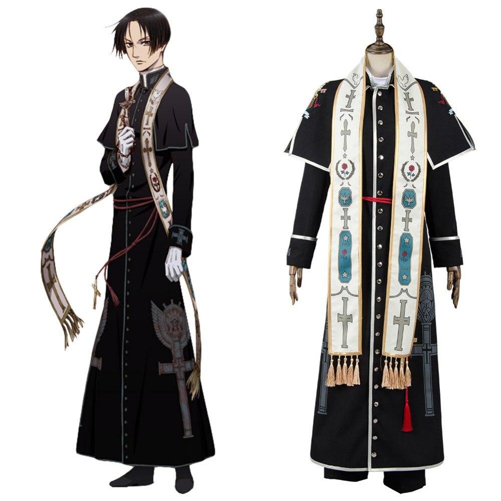 Hot Cosplay Vatican Miracle Examiner Hiraga Josef Ko & Roberto Nicholas Outfit Cosplay Costume Halloween Carnival Costume