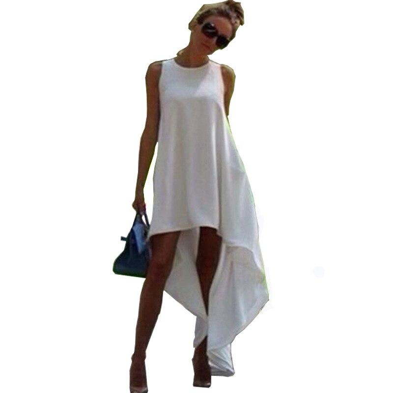 Plusz méretű 5XL női nyári ruha Bohém szabálytalan tengerparti ruha Loose Flare Tunic női ujjatlan Boho ruhák szexi ruha