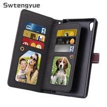 Swtengyue Für Sony Xperia XA1 Ultra fall Flip Brieftasche Leder Multifunktions Neun karten fall Für Sony Xperia XA1 Ultra Fall