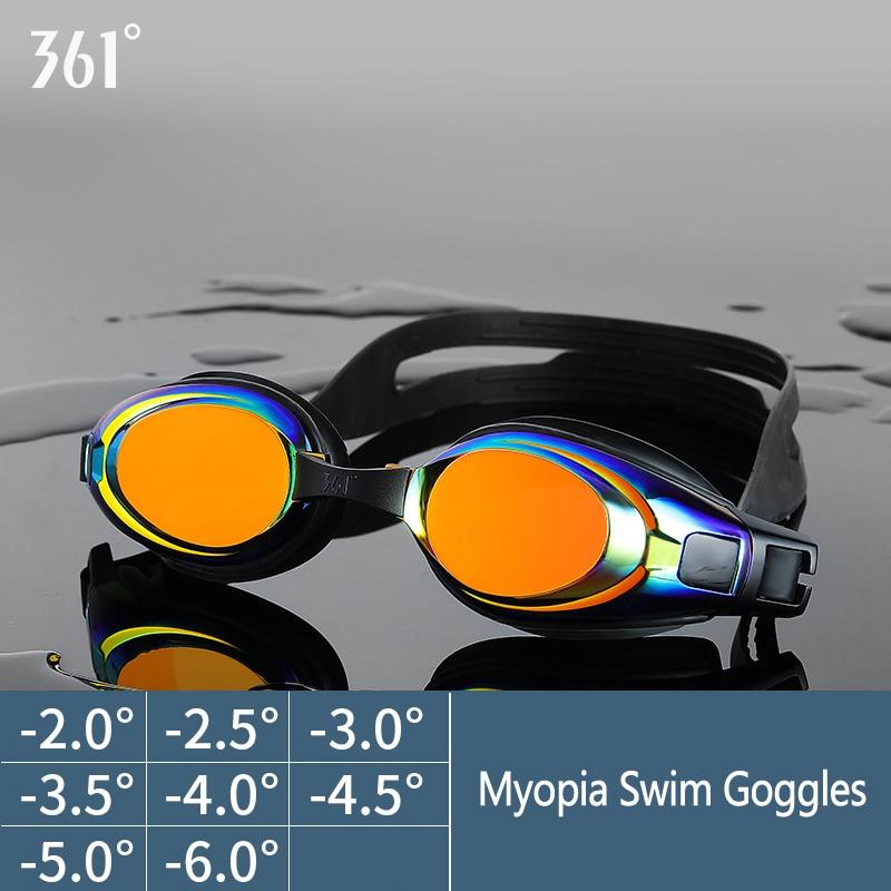 unisex professional myopia silicone swimming pool glasses anti fog waterproof
