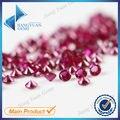 Precio de fábrica 8 #500 unids 1 ~ 3mm Corte Redondo de Piedra Roja Corindón Sintético Joyas de piedra Para la joyería