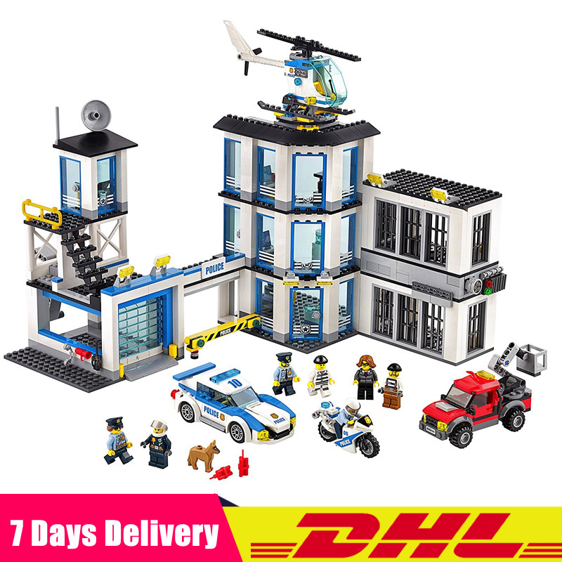 LEPIN 02020 965Pcs City Series The New Police Station Set Compatible Legoingly 60141 Building Blocks Bricks Toys for Children 1397pcs large building blocks sets city police station anti terrorism action compatible legoingly city police toys for children