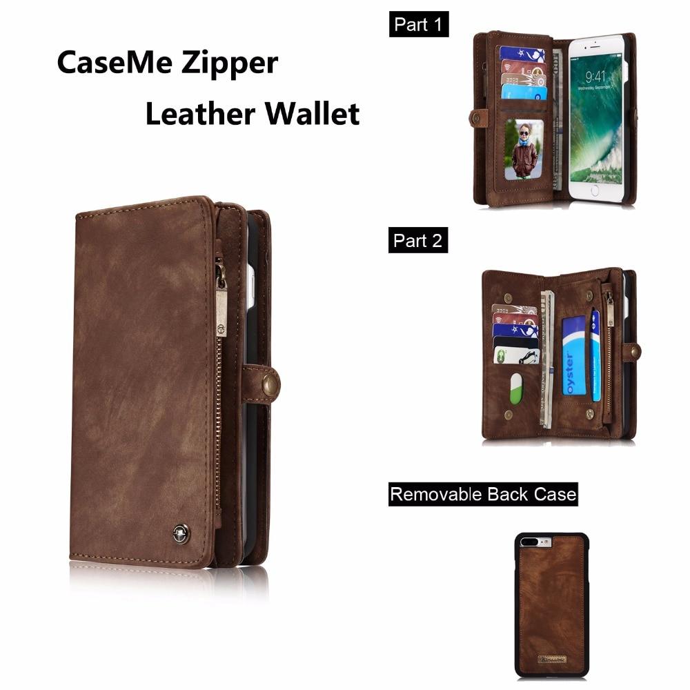 2 в 1 съемная Magnetic Money Кошелек люкс Флип Кожаная визитница сумка чехол для iPhone 6 6S 7 Plus бренд Телефонные чехлы Кошелек