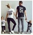 Familia Trajes A Juego Rey Reina Carta Camisa de Algodón Camiseta Amantes de la Ropa A Juego Princesa Príncipe Más Nuevo Regalo de San Valentín