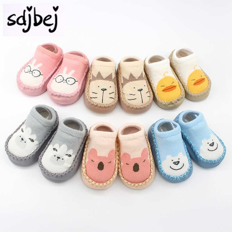 Sdjbej Baby Socks With Rubber Soles Infant Sock Newborn Children Indoor Floor Socks Shoes Anti Slip Soft Sole Sock