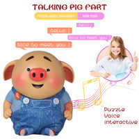 Electric Cute Pig Toy Talking Music Sound Recording Toy for Family Set Interactive Baby Kids Toys NSV775