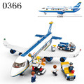 2017 Free shipping Plane toy AirBus Model Airplane Building DIY Blocks sets  Bricks Classic Toys Compatible with Leping plane
