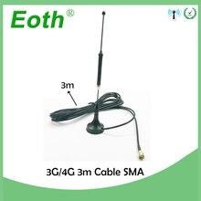 5 adet/grup 4G 10dbi LTE Anten 3g 4g lte Hava 698 960/1700 2700Mhz manyetik bankası SMA Erkek RG174 3m Açık Enayi Anten