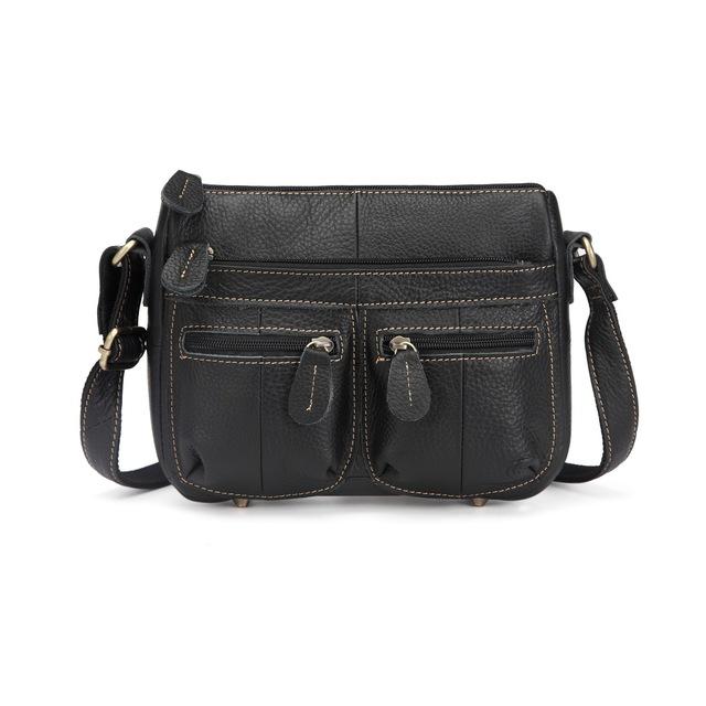 Women's Travel Messenger Bag 100% Top Cowhide Genuine Leather