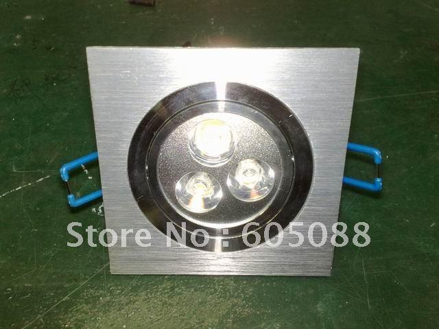 Гарантия качества 3x1 Вт площади светодиодный Потолочные Встраиваемые спот лампы вниз AC85-265v Epistar высокой мощности светодиодные светильники 10 шт./лот