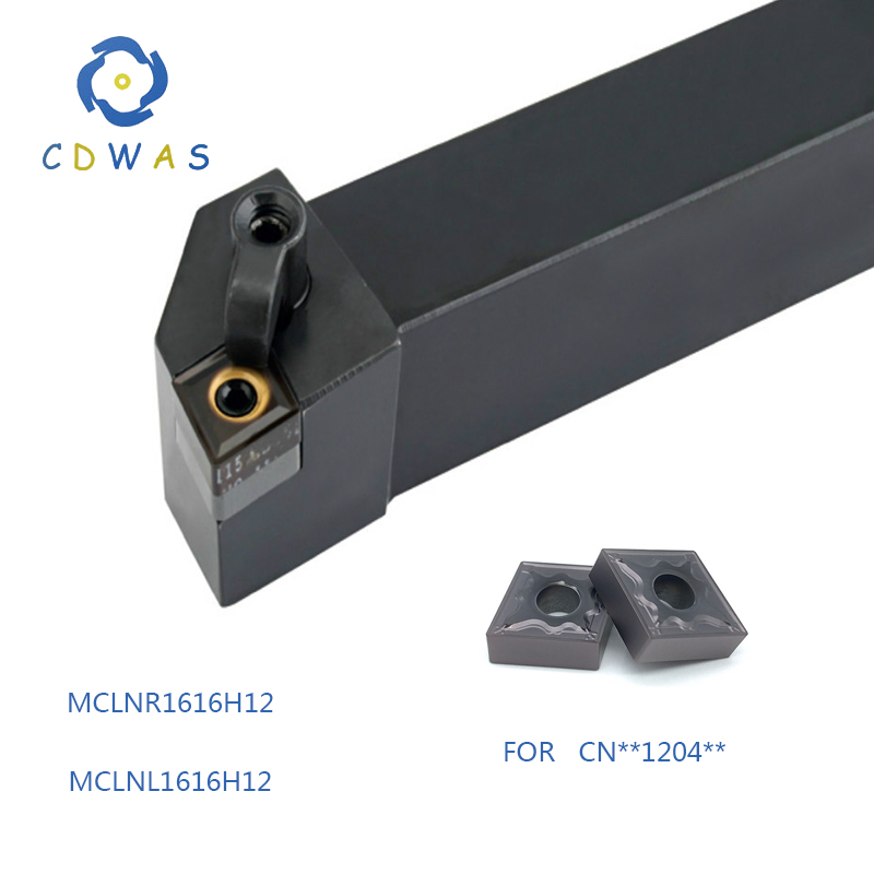 1PC MCLNR1616H12 MCLNL1616H12 for <font><b>CNMG120404</b></font> CNMG120408 carbide external tool holder MCLNR MCLNL factory direct sales image