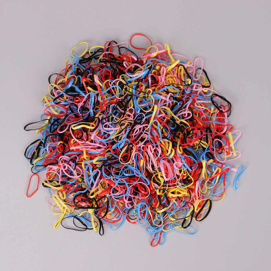 Free Shipping 1.5CM Child Baby Hair Holders Rubber Bands Elastics Girl Tie Braids Hair Accessories 4 Color 1000PCS/bag