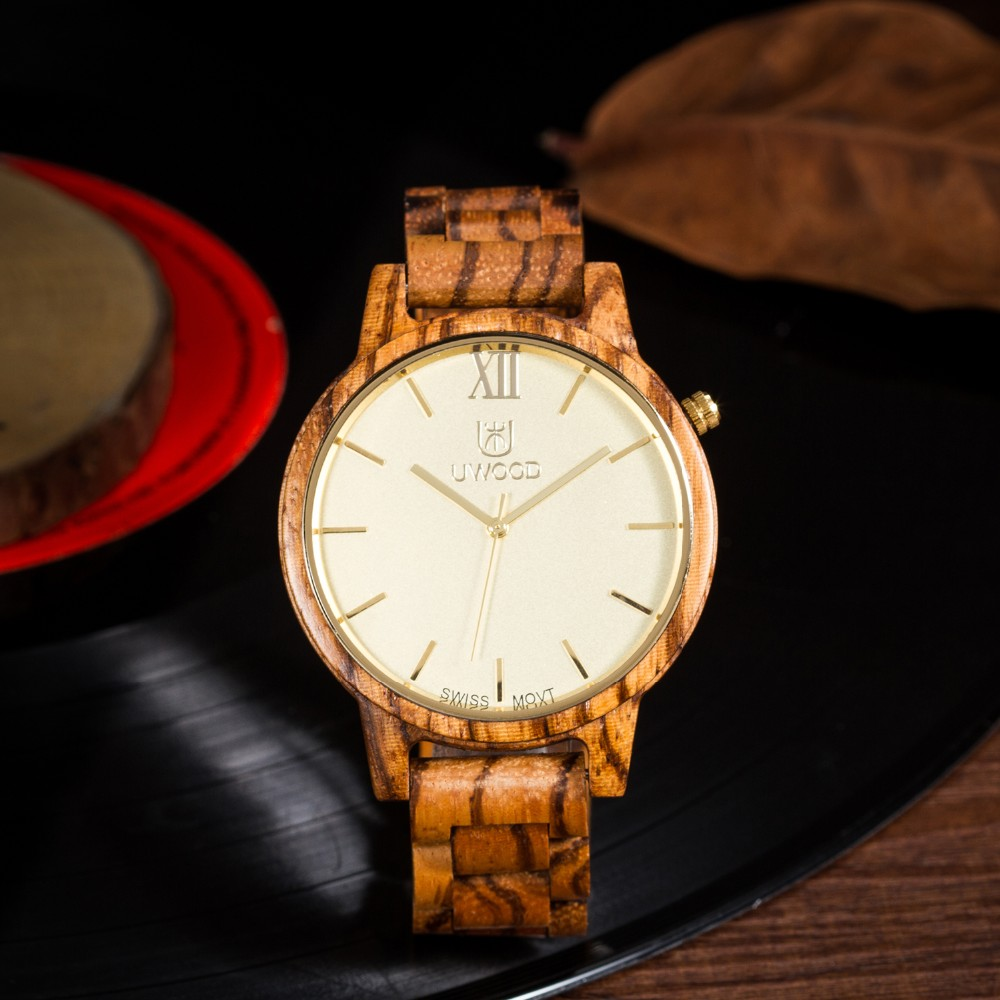 Natural Bamboo Wooden Watch Brand new analog men wood watch slim designer 16 Strap Japanese Quartz Movement Casual Watches 6