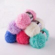 100g/ball Long Hair Mink Yarn Faux Fur Mohair Wool Cashmere for DIY Hand Knitting Crochet Sweater Thread Baby QW004