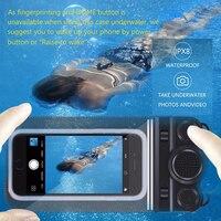 Universele 6 inch IP68 Waterdichte Telefoon Case Bag Voor iPhone 7 6 6 s Plus Samsung Galaxy S8 S7 Edge Bluetooth Speaker Camera