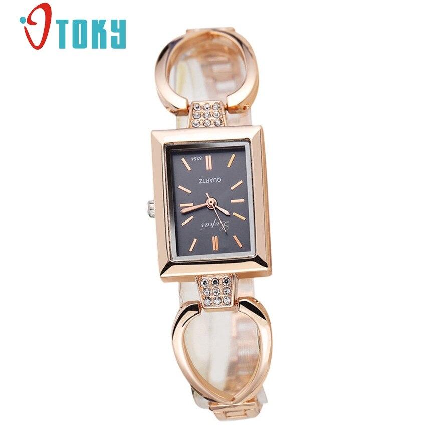 OTOKY Fashion Women Square Watches Rhinestone Crystal Wristwatches Ladies Casual Luxury Quartz Watch 30 Gift 1pc