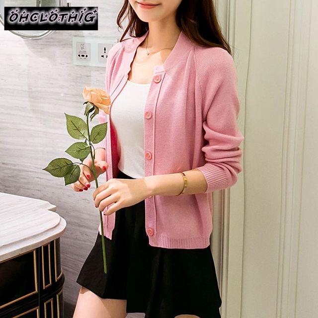OHCLOTHING Female cardigan Autumn dress sweater 2021 new spring autumn winter jacket coat primer cardigan 5