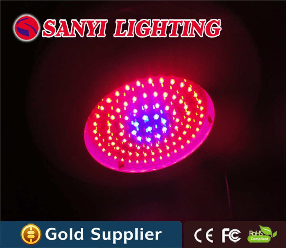 90x3w UFO 270w led grow light lamp with red blue 8:1 for indoor greenhouse flowering and fruiting greenhouse 90w led grow light mini ufo plant grow lamp with red blue orange 7 1 1 for indoor plants