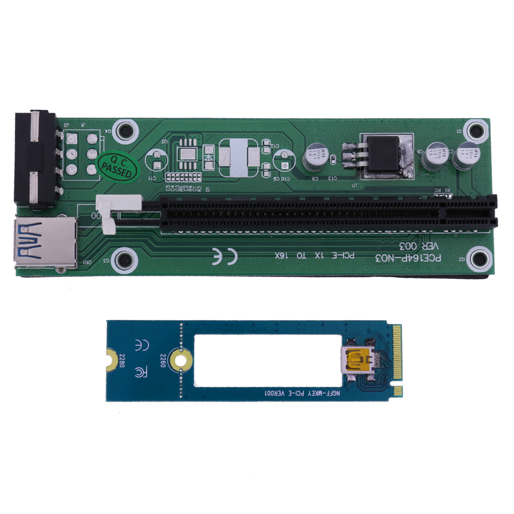 4Pin IDE Molex Power Supply Riser card PCI-E 1X to 16X extension conversion board PCI-e turn M.2 NGFF 1x adapter with 40cm cable tx2000 ide array card
