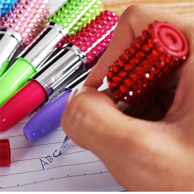 1X Neuheit Rainbow Crystal Diamond Pen Kugelschreiber Office School