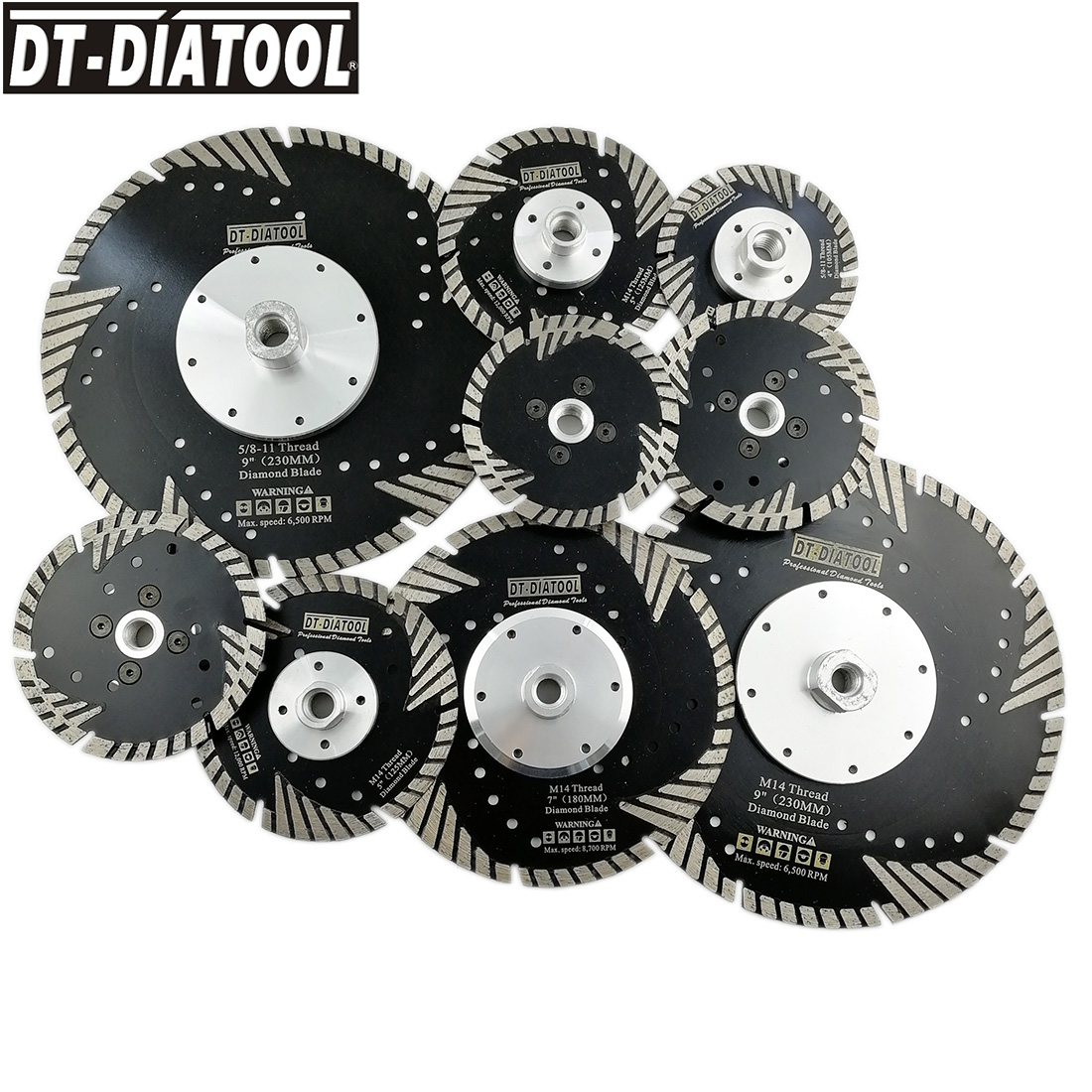 1pc Diamond Turbo Saw Blade With Slant Protection Teeth Cutting Disc Cutting Wheel For Marble Granite Concrete Stone  Dia 4