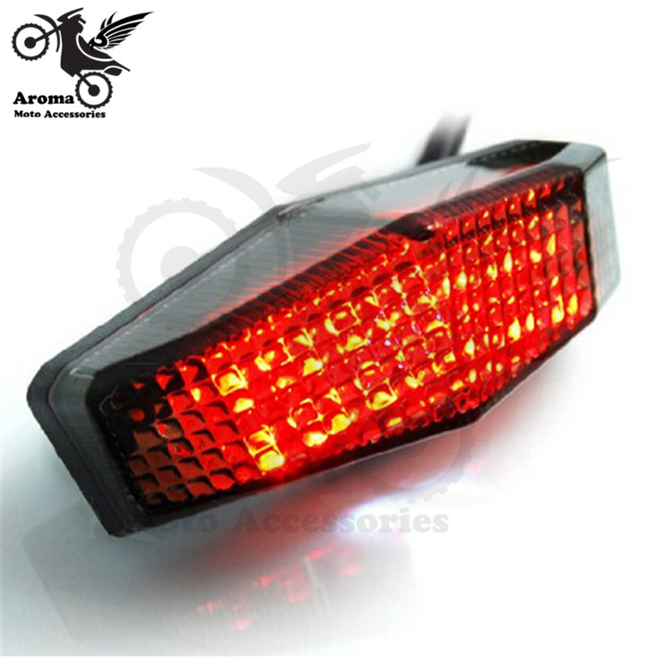 Smoke Len Motorcycle Brake Light LED Motorbike Tail Light Universal Motocross ATV Off-road Red Lighting Moto Dirt Pit Bike Parts