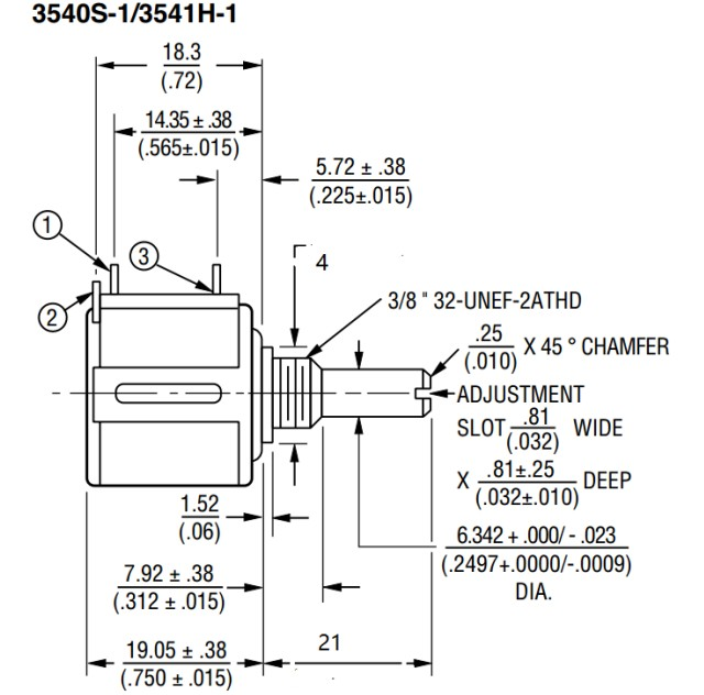 [VK] Imported ORIGINAL 3545S-1-103L precision multi-ring potentiometer 5 laps 10K resistance 3545S-415-103L original SWITCH spanish two tone double potentiometer 10k 50k