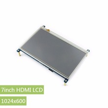 Discount! Raspberry Pi 3 B 7inch HDMI LCD 1024 * 600 Resistive Touch Screen LCD Display,HDMI interface, for Raspberry Pi