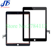 10Pcs Replacement For iPad 5 / Air 1 Touch Screen Digitizer panel Assembly with flex cable white black color with sticker(China)