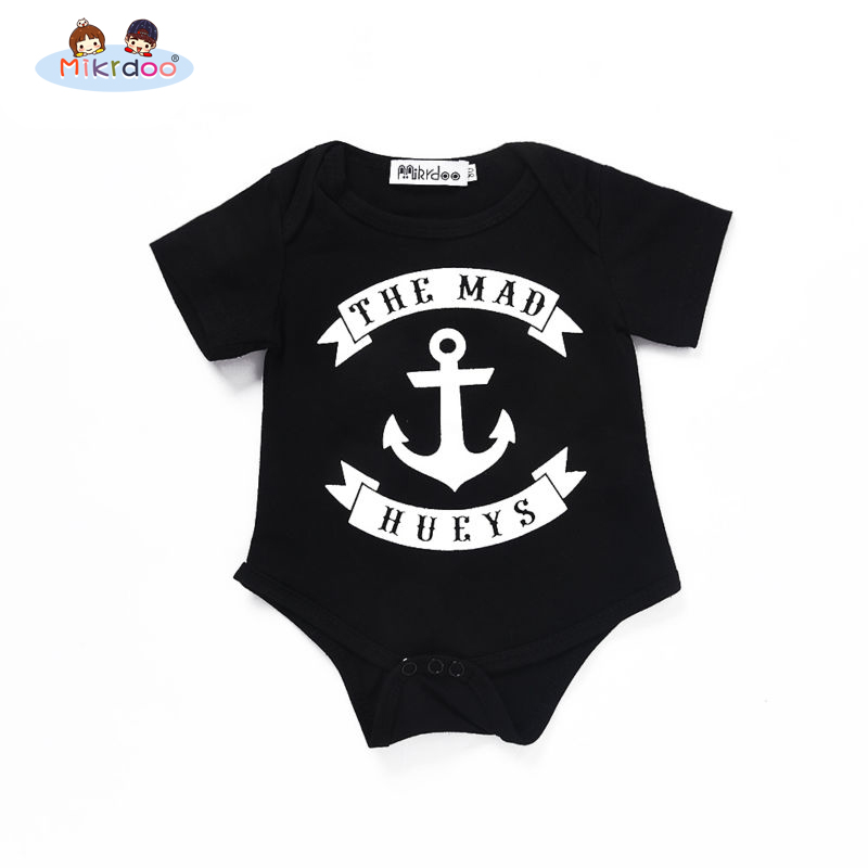 Baby boys clothes kids short sleeve rompers the mad hueys infant jumpsuit stylish casual cotton top newborn toddler clothing set