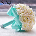 SoAyle New Arrival Wedding Bouquet 18cm 20cm Brides Bouquet Simulation Flowers wedding flowers Bridesmaid Bouquets  Hot Sale