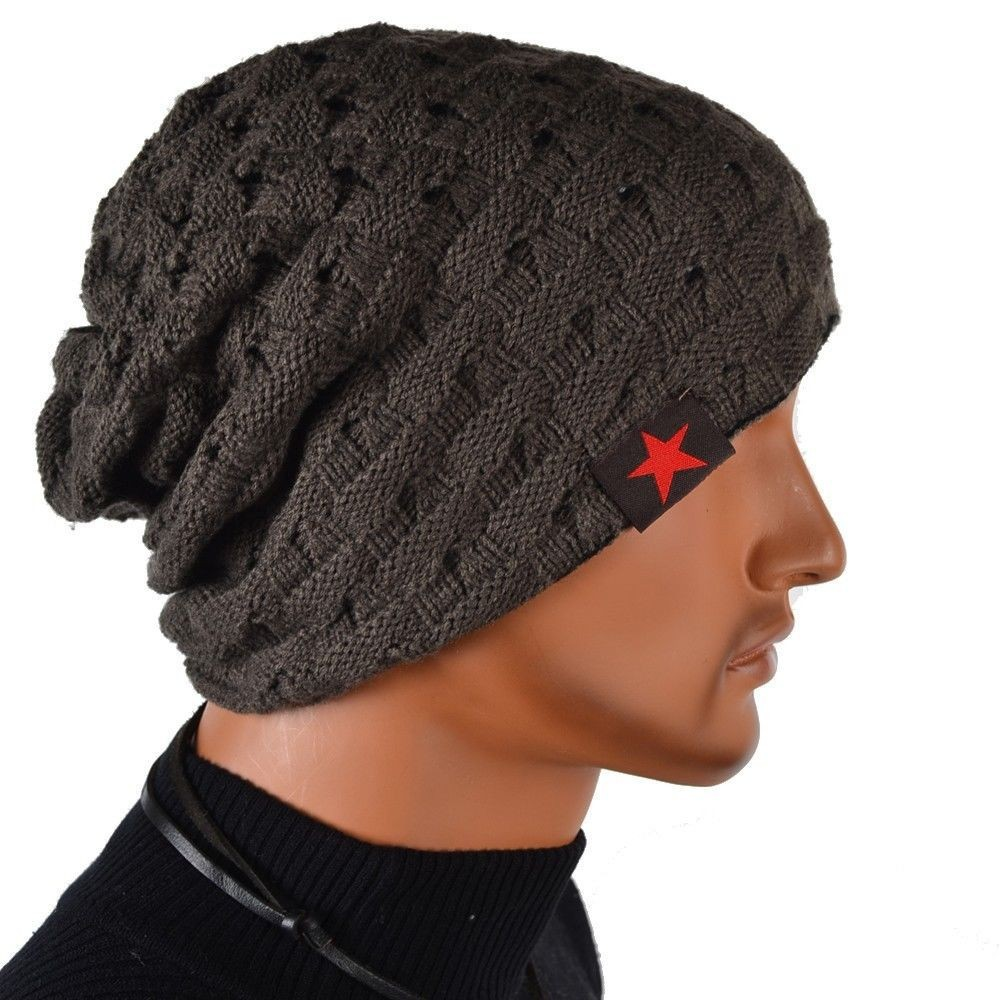 1c4f6f74e9922 Invierno Reversible Beanie sombrero de hombre para mujer sombreros ...