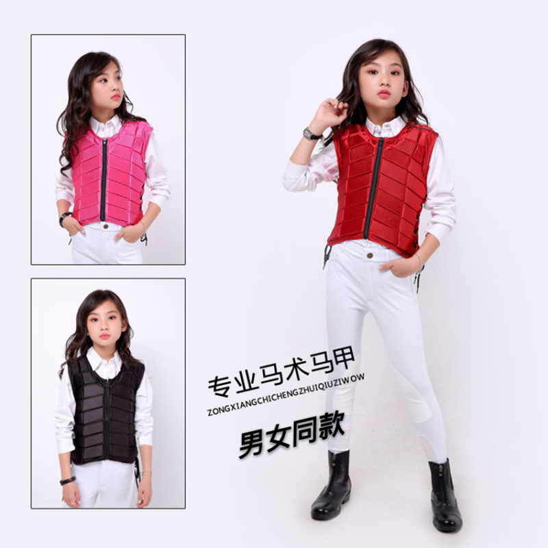 For Kids baby youth Safety Equestrian Horse Riding Vest Protective Body Protector Shock Absorption Jacket Sportswear Racing A adjustable pro safety equestrian horse riding vest eva padded body protector s m l xl xxl for men kids women camping hiking
