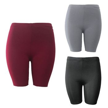 Fashion New Lady Women's Casual Fitness Half High Waist Quick Dry Skinny Bike Shorts 3 Colors High Quality 2