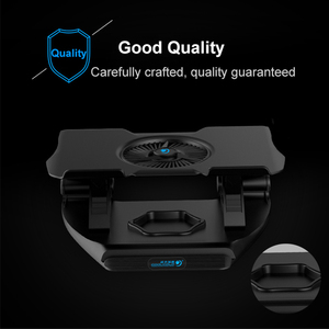 Image 4 - COOLCOLD Laptop Cooling Stand Single Fans Notebook Cooler Base Air Cooled 7 Angle Adjustable Holder for 15.6 17 Laptop Non slip
