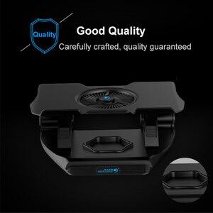 Image 4 - Coolcold portátil suporte de resfriamento único ventiladores notebook base refrigerador de ar de refrigeração 7 ângulo ajustável titular para 15.6 17 portátil antiderrapante