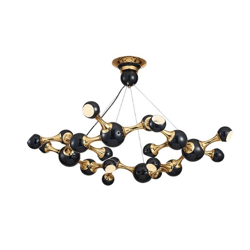 new luxury art led chandeliers villa club dinning room kitchen restaurant ceiling pendant lamp led G9 bulb source fitting