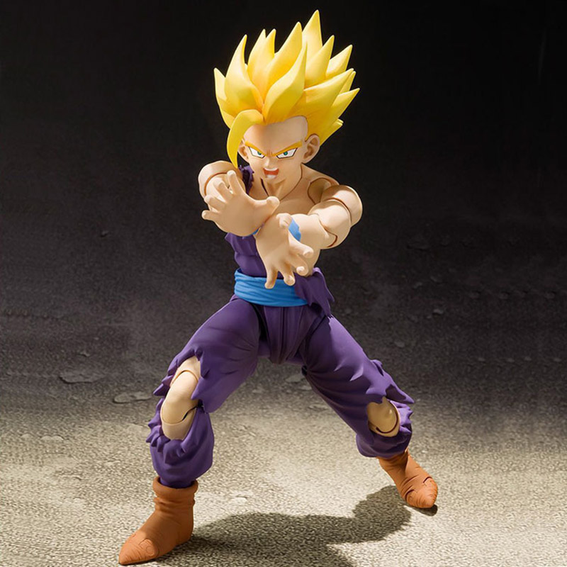 SHF S.H.Figuarts Dragon Ball Z Super Saiyan Son Gohan Battle Damage Ver. PVC Action Figure Collectible Model Toy  FREE SHIPPING shf figuarts superman in justice ver pvc action figure collectible model toy
